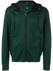 Hugo Boss Saggy Full Zip Hooded Jacket Green