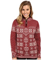 Dale Of Norway Peace Red Rose Off White 2 Women's Sweater Brown
