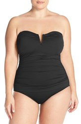 Tommy Bahama Plus Size Women's 'Pearl' Convertible One Piece Swimsuit