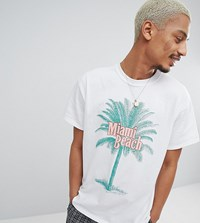 Milk It T Shirt With Tropical Print White