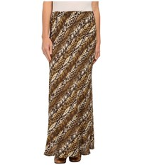 Roper 9907 Aztec Print Rayon Maxi Skirt Brown Women's Skirt
