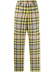 Closed Check Straight Leg Trousers 60