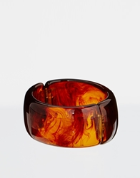 Kenneth Jay Lane Wooden Chunky Bangle Brown