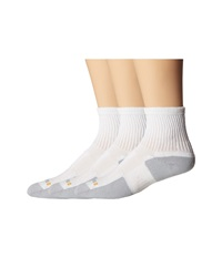 Drymax Sport Walking Crew 3 Pair Pack White Grey Quarter Length Socks Shoes