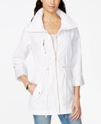 Jm Collection Roll Tab Sleeve Anorak Jacket Only At Macy's Bright White