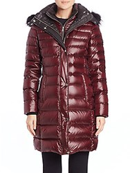 Marc New York Gayle Fur Trimmed Puffer Coat Marsala