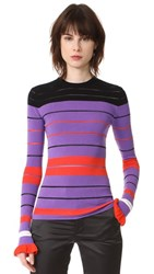 Opening Ceremony Striped Rib Sweater Lavender Multi
