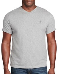 Polo Big And Tall V Neck Cotton Tee Speedway Grey
