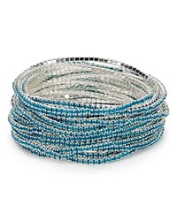 Abs By Allen Schwartz Stretch Bangles Set Of 20 Medium Blue