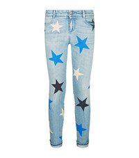 Stella Mccartney Star Print Ankle Grazer Skinny Jeans Female Blue