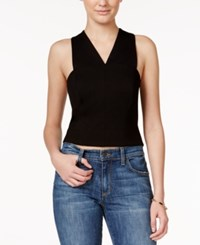 Rachel Rachel Roy Cross Back Crop Top Black