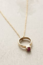 Anthropologie Birthstone Ring Choker Red