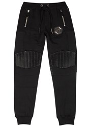 Philipp Plein Gold Card Black Jogging Trousers