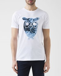 Knowledge Cotton Apparel White Owl T Shirt