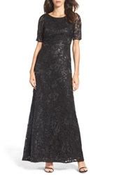 Adrianna Papell Women's Sequin And Tulle Gown