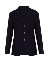 The Gigi Degas Textured Cotton Blazer Navy