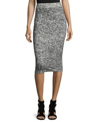 Cheap Monday Jersey Pencil Skirt Dirty Whit