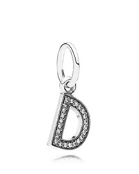 Pandora Design Pandora Pendant Sterling Silver And Cubic Zirconia Letter D Moments Collection Silver Clear