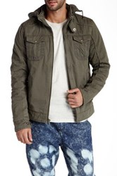 X Ray Padded Hooded Jacket Gray