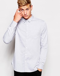 New Look Long Sleeve Oxford Shirt Palegrey
