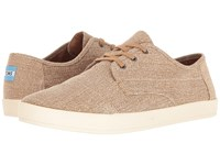 Toms Paseo Sneaker Desert Taupe Coated Twill Men's Lace Up Casual Shoes