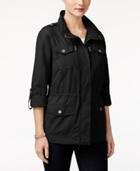 Styleandco. Style Co. Petite Utility Jacket Only At Macy's Deep Black