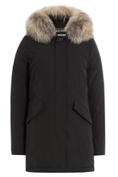 Woolrich Luxury Arctic Down Parka With Fur Trimmed Hood Black