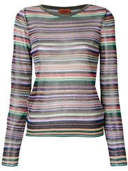 Missoni Longsleeved Boat Neck Top