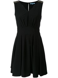 Guild Prime V Neck Flared Dress Black