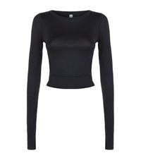Under Armour Underarmour Wishbone Long Sleeve Crop Top Female Black