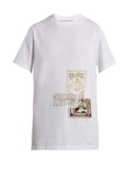 Martine Rose Patch Cotton T Shirt White