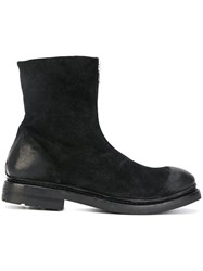 The Last Conspiracy Curved Ankle Boots Leather Rubber Black