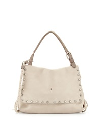 Studded Leather Shoulder Bag Bone Henry Beguelin