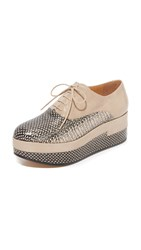 Maison Martin Margiela Leather Oxfords Champagne Champagne