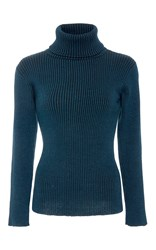 Mara Hoffman Toni Turtleneck Sweater Blue