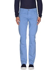 Camouflage Ar And J. Denim Denim Trousers Men Pastel Blue