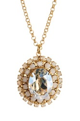 Liz Palacios Crystal Surround Necklace No Color