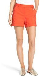 Vince Camuto Women's Cuffed Shorts Red Hot