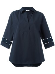 Akris Cut Out Detail Shirt Blue