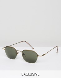 Reclaimed Vintage Round Sunglasses Silver