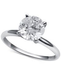 Macy's Diamond Round Solitaire Engagement Ring 1 1 2 Ct. T.W. In 14K White Gold