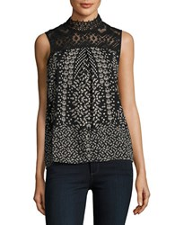 Vero Moda Lace And Floral Shell Black
