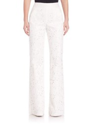 Sachin And Babi Noir Shabea Wide Leg Lace Pants Ivory