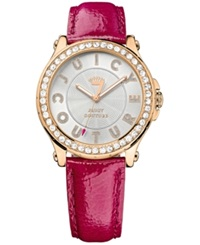 Juicy Couture Women's Pedigree Hot Pink Embossed Leather Strap Watch 38Mm 1901204