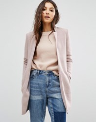 Only Edge To Edge Coat Rose Dawn Mel Pink
