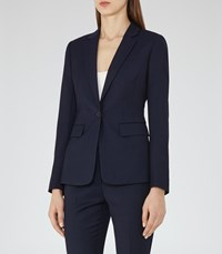 Reiss Indis Jacket Womens Single Breasted Blazer In Blue