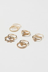 Handm H M 10 Pack Rings Gold