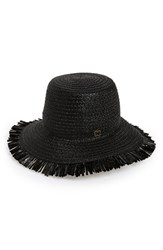 Women's Eric Javits 'Tiki' Bucket Hat Black