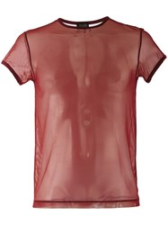 Jean Paul Gaultier Vintage Sheer Top Red
