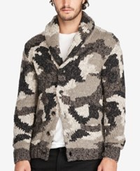 Denim And Supply Ralph Lauren Men's Camouflage Cardigan Grey Mu